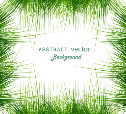 abstract shiny green grass vector frame whit background illustration