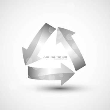 abstract shiny recycle vector arrows design