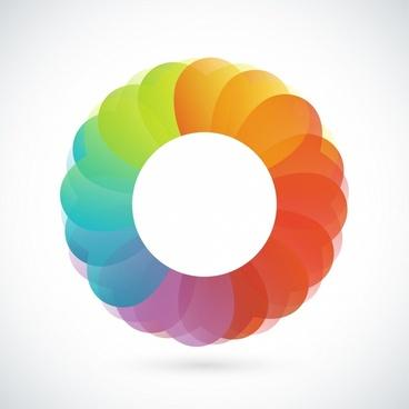 Abstract shutter lens symbol