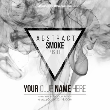 abstract smoke poster vector