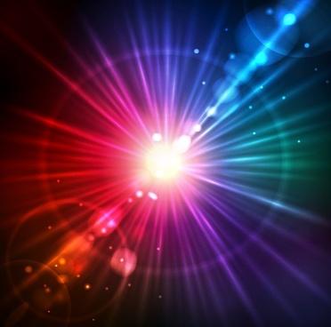 abstract solar light burst background vector illustration