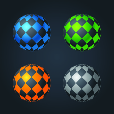 abstract spheres modern vector