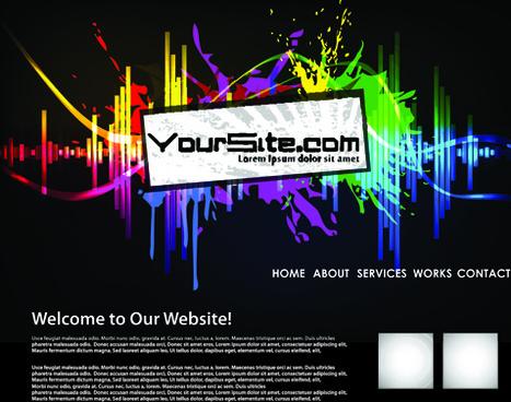 abstract splash website background vector