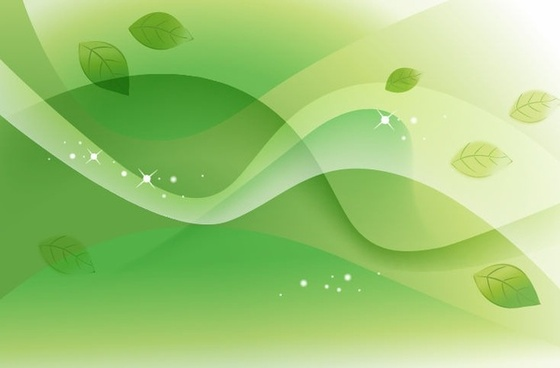 Abstract Spring Green Vector Background