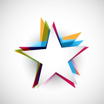 abstract stars colorful stylish design whit background vector