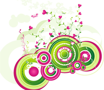 abstract stock vector flowers