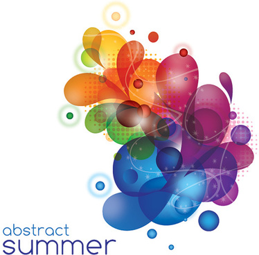 abstract summer vector graphic