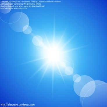 Abstract Sunny Blue Sky Background