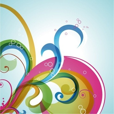 abstract swirl vector background