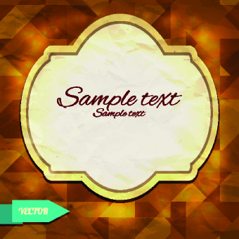 abstract tangram with frame background vector