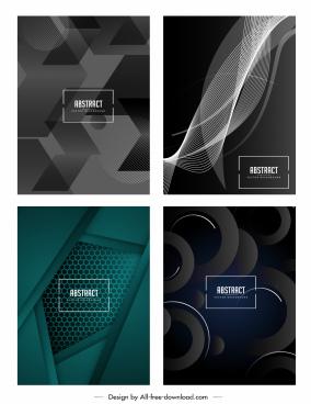 abstract technology background templates modern dark decor