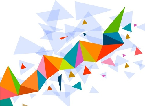 abstract texture various colorful triangles design