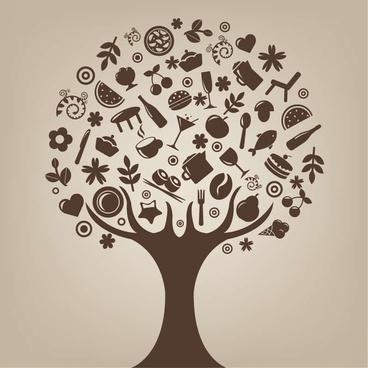 Abstract Tree Vector Art
