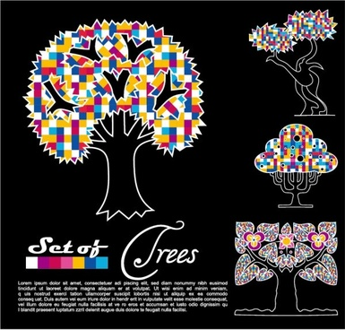 abstract trees vector 03 vector