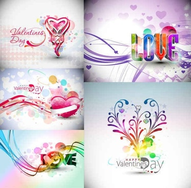 Abstract Valentines Day Vector Graphics