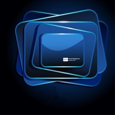 technology background shiny modern blue geometric frames decor