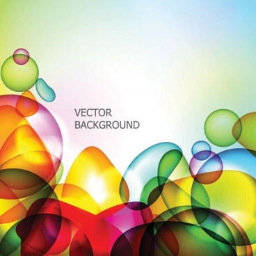 abstract background colorful transparent deformed shapes decor