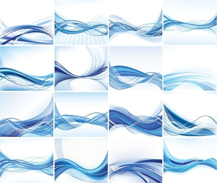 Abstract Vector Background Set