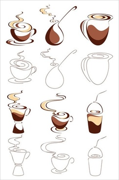 abstract vector graphic 1 coffee