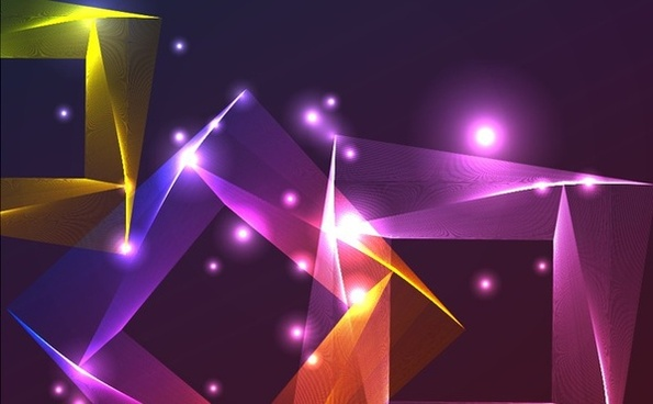 abstract 3d squares background sparkling colorful decoration