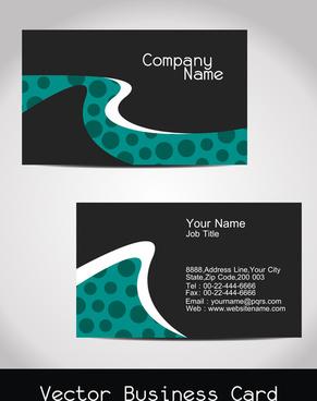 abstract visiting card