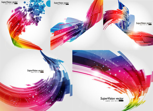 abstract visual effects background vector graphic