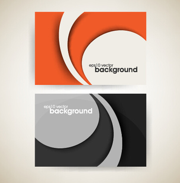 abstract wave business cards vector