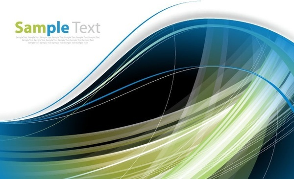 abstract wave curves vector background