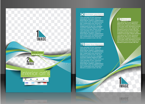 abstract wave flyers cover vector graphics