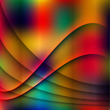 abstract wave with blurs colorful background vector
