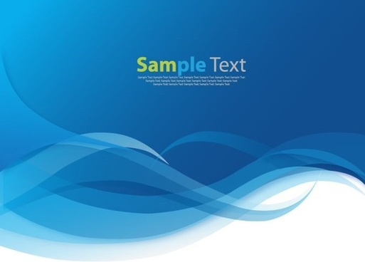 abstract waves blue background vector illustration