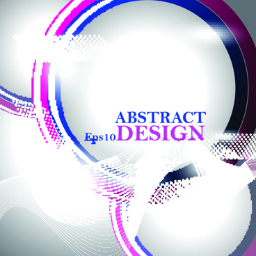 abstract waves elements vector background