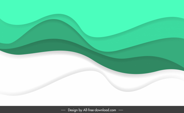abstract waving background template bright curves sketch