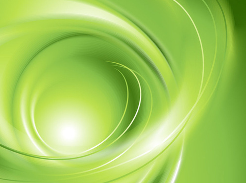 abstract wavy green eco style background vector