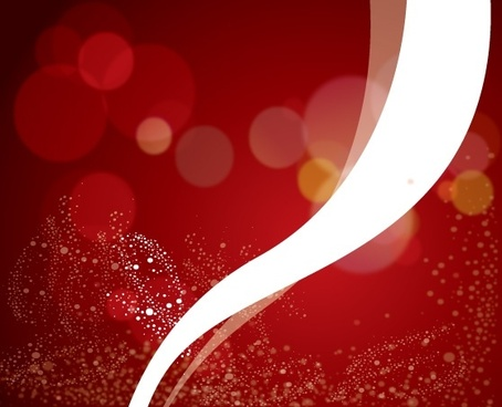 abstract red bokeh background white curved line ornament