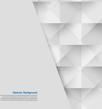 abstract white square vector background