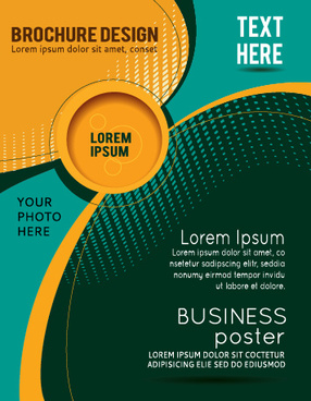 abstract with round brochure cover design vector