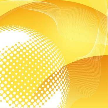 Abstract Yellow Vector Background