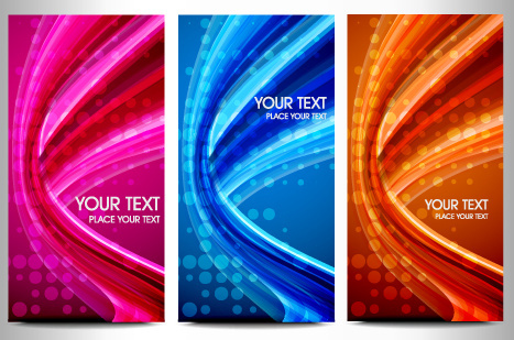 abstraction of modern business cards vector