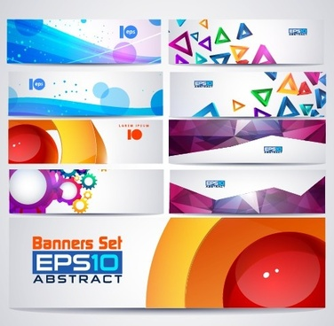 abstractr colored web banner vector graphics