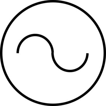 Ac Source Symbol clip art