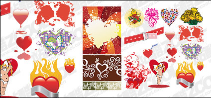 Accommodates love and heart-shaped vector material