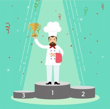 achievement background cooking winner icon
