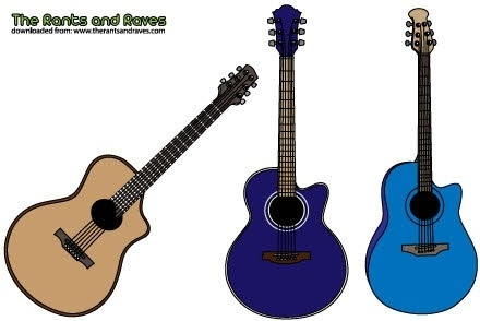 Acoustic guitars vector