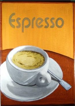 acrylic painting espresso