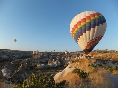 action aircraft architecture balloon cappadocia city