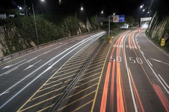 action asphalt automobile blur car evening fast