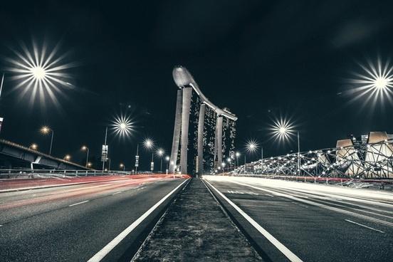 action blur bridge car city exposure fast headlight