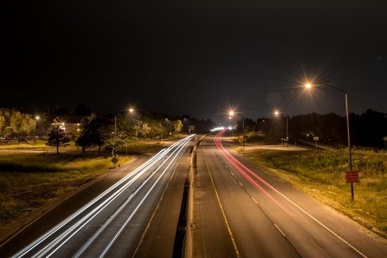 action blur car evening fast freeway headlight