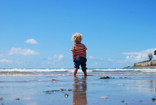 active beach boy child children family fun girl